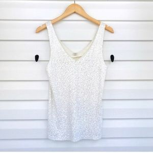 SALE J Crew Sequin Tank Top